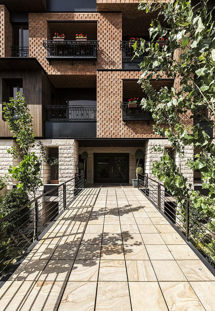 معماری ساختمان مسکونی گلدان