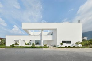 نمای ساختمان یک طبقه ساده مسکونی