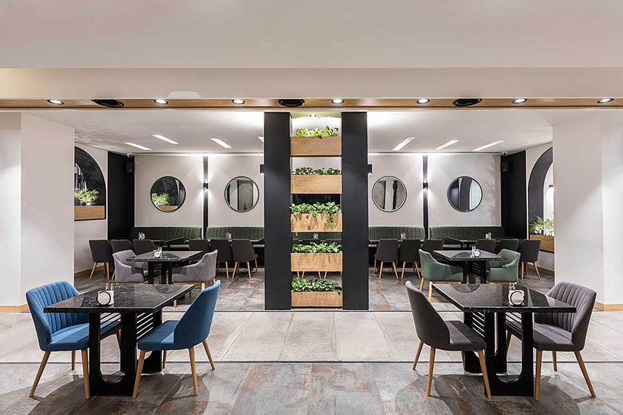 طراحی داخلی رستوران آرکا