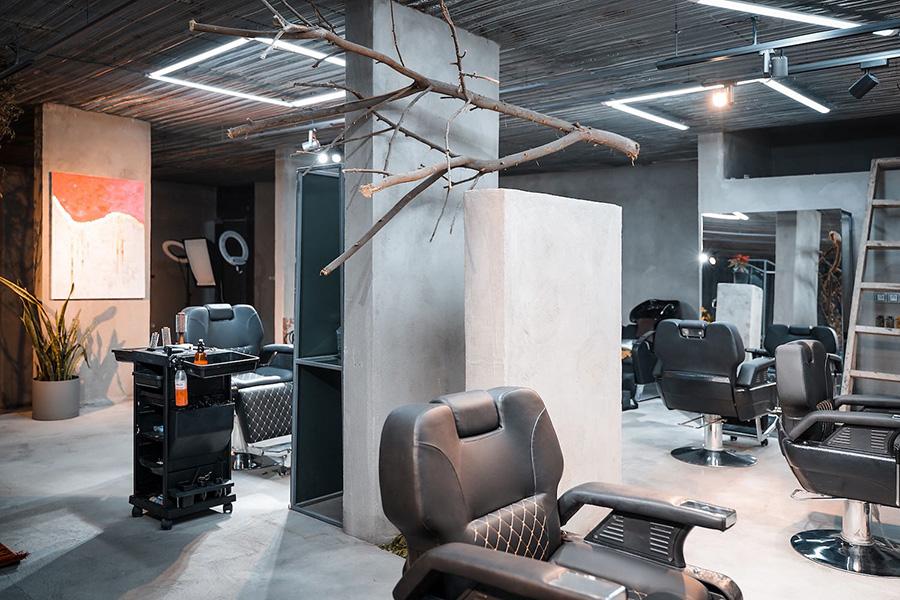 دکوراسیون داخلی آرایشگاه مردانه