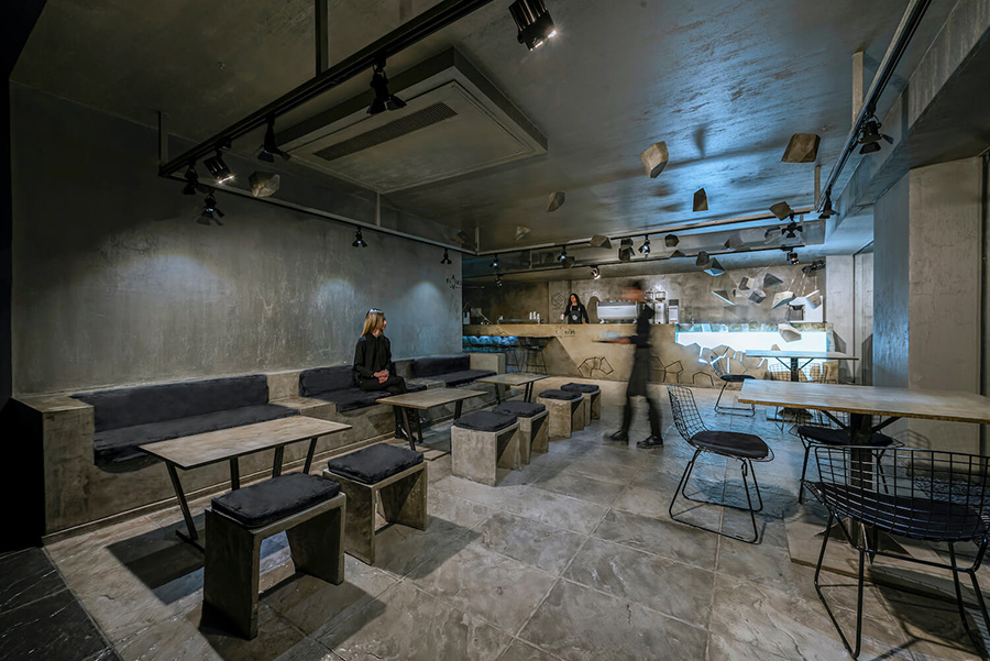 طراحی داخلی کافه کربن